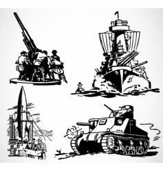 retro military graphics vector image