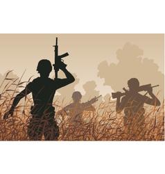 Soldier patrol vector image vector image