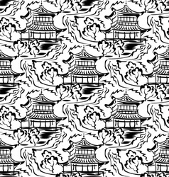 asian temple seamless vector image
