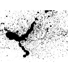 graffiti paint splatter pattern in black on white vector image