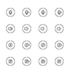 media player icons set line icon vector image vector image