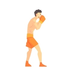 Skinni Man Boxing Martial Arts Fighter Fighting vector image vector image