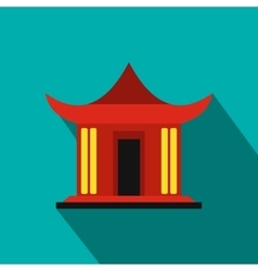 Traditional Chinese House icon flat style vector image
