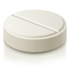 white medical pills vector image