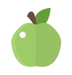 Fresh green apple icon vector image vector image