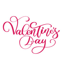 happy valentines day typography poster with vector image vector image