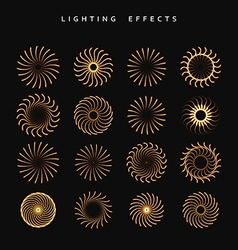 Set of lighting isolated effect vector image vector image