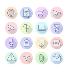 Thin Line Icons For Business and Finance vector image vector image