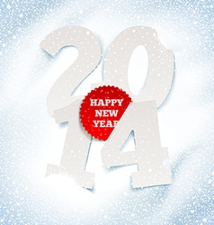 2014 new year holidays greeting with paper numbers vector