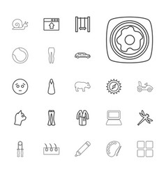22 drawing icons vector