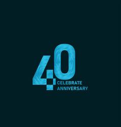 40 year anniversary aqua color template design vector