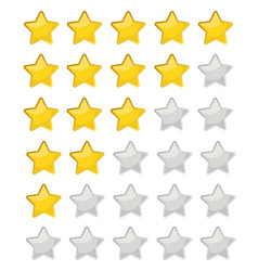 5 star rating eps10 isolated badge vector image