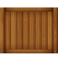 A wooden empty board vector image