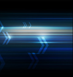 Abstract motion with arrows dark blue background vector