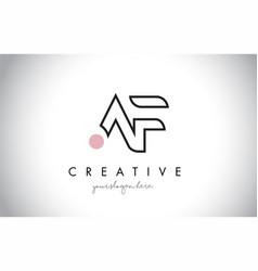 Af letter logo design with creative modern trendy vector