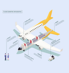 aircraft isometric scheme composition vector image