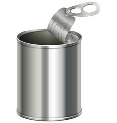 Aluminium can with no label on it vector