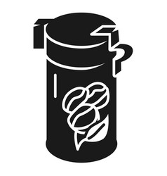 Aluminum coffee can icon simple style vector