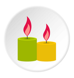 Aromatic candles icon circle vector