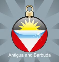 Barbuda flag on bulb vector image
