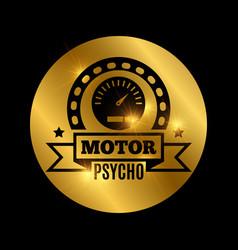 black moto emblem vector image