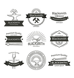 Blacksmith labels set vector image