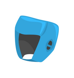 blue boxing helmet to protect the head colorful vector image