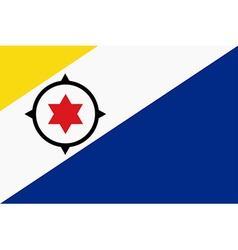 Bonaire flag vector image