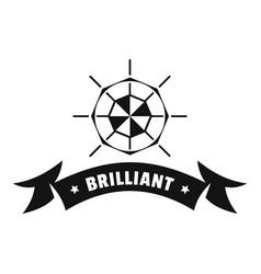 Brilliant logo simple black style vector