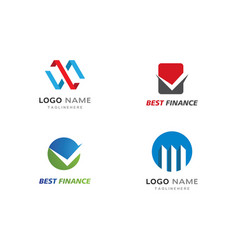 business finance professional logo template vector image