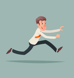businessman running hurry race rush velocity vector image