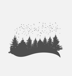 camping camp image of nature tree silhouette vector image