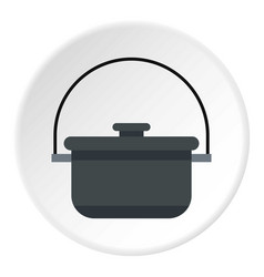 Camping pot icon circle vector