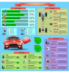 Car Repair Infographic Set vector image