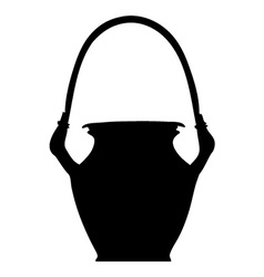 Clay pot silhouette vector image