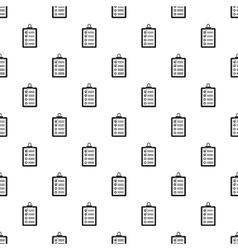 Clipboard with checklist pattern simple style vector