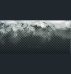 cloud and smoke isolated on transparent background vector image