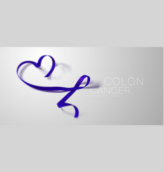 colon cancer awareness calligraphy poster design vector image