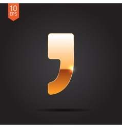 Comma icon Eps10 vector