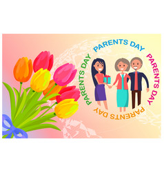 Congratulation card dedicated to parents day vector