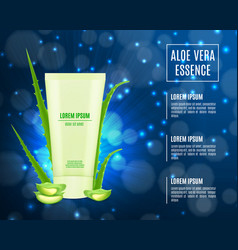 Cosmetic product poster vector