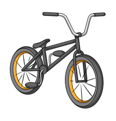 Cyclingextreme sport single icon in cartoon style vector