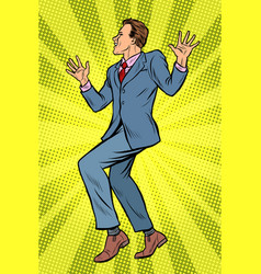 dancing businessman disco dance club music vector image