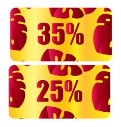 discount coupon voucher background vector image