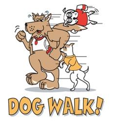 Dog walk vector image