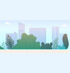 downtown park landscape city green area or vector image