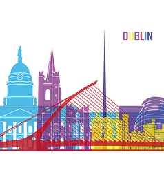 Dublin skyline pop vector