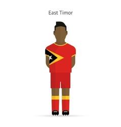 East timor football player soccer uniform vector