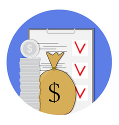finance plan icon vector image