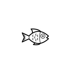 fish animal icon vector image